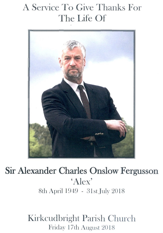 Sir Alex Fergusson Order Of Service