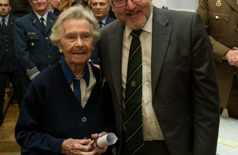 David with Mary Chapman, 83 year old codebreaker from Edinburgh