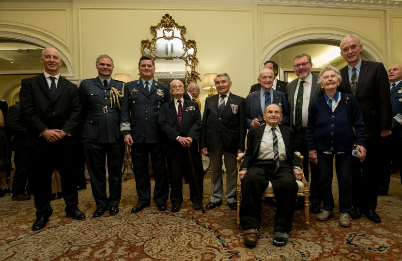 David with RAF Veterans from Britain and Argentina