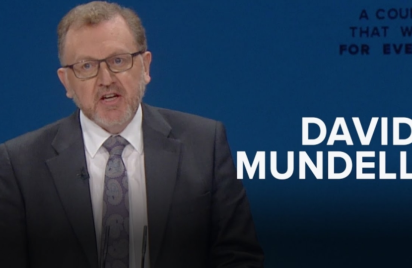 David Mundell spoke to delegates in Manchester