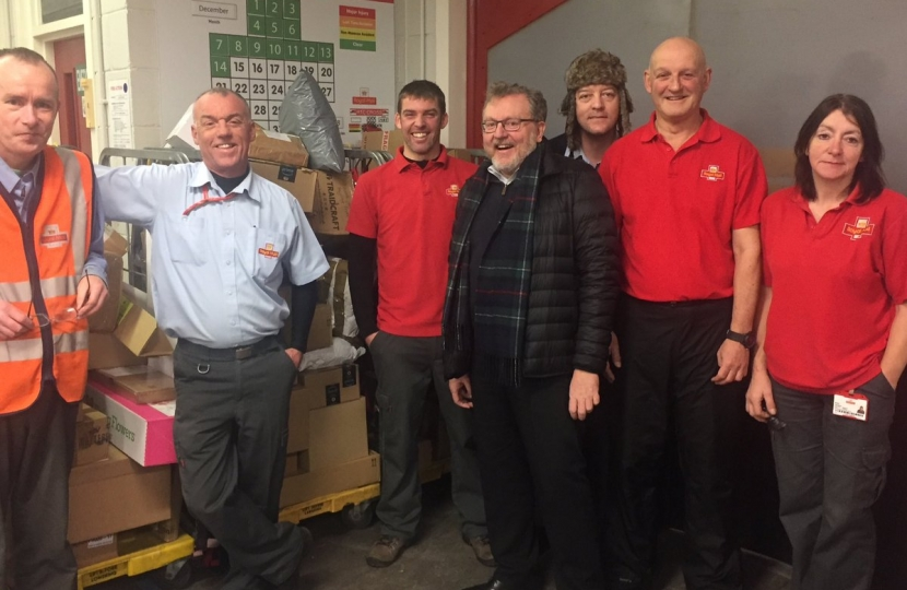 David Mundell thanked staff at Annan's sorting office