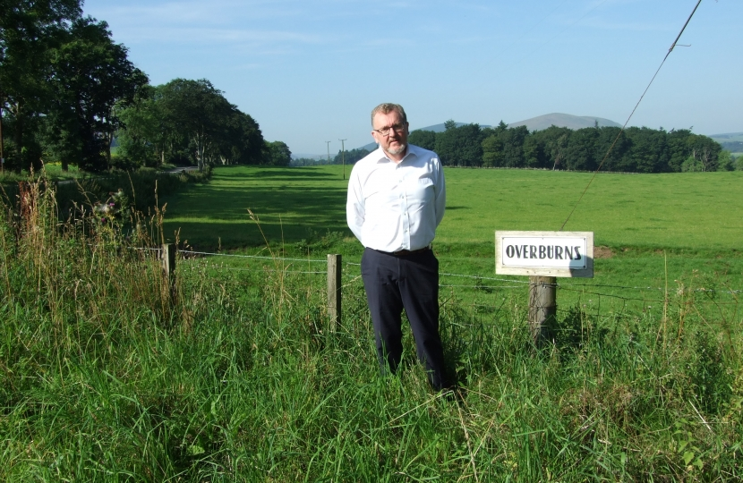 David has long campaigned against a quarry at Overburns