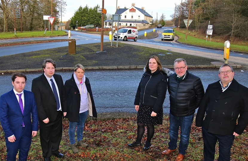 David Mundell MP with Councillors and MSPs at Leadburn Junction