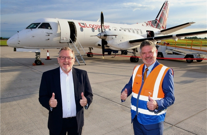 David Mundell MP Carlisle Airport