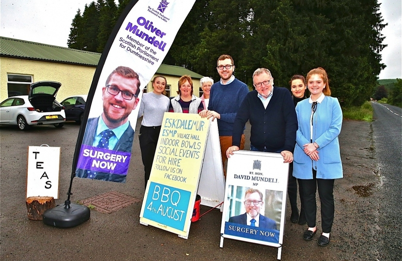 David Oliver Mundell MP MSP Surgery Tour Eskdalemuir
